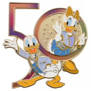 Donald and Daisy Duck iridescent 50 - Walt Disney World 50th Anniversary pin