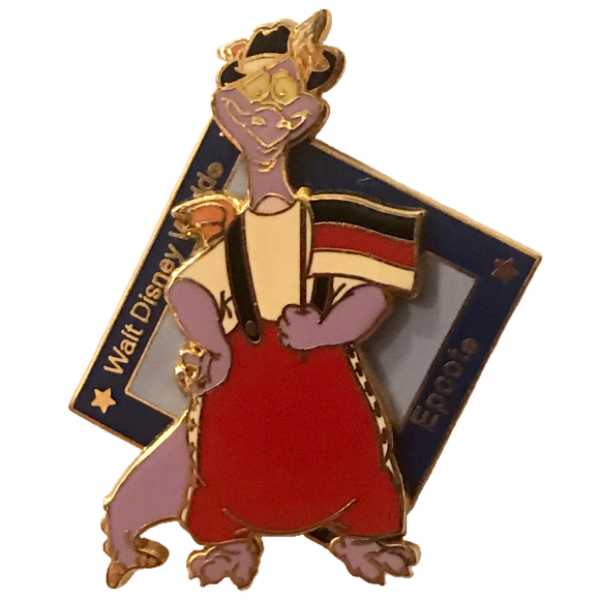 Epcot World Showcase - Figment in Germany (2004) pin