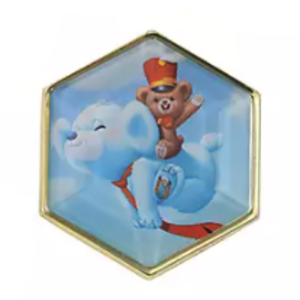 Popcorn and Churro - UniBEARsity Pin Badge Set Crystal Art UniBEARsity 10th ANNIVERSARY pin