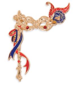 Esmeralda Masquerade mask pin