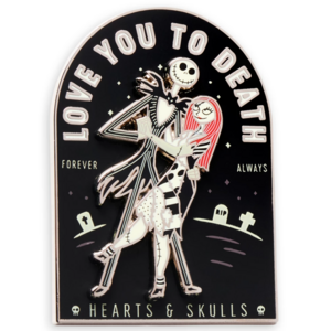 Jack and Sally - Love you to death forever always - Pin & Flair pin