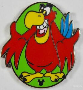 Iago Hidden Mickey pin