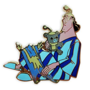 Kronk in his pyjamas pin