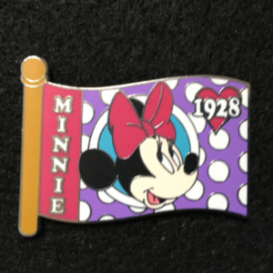 WDW Character Flag Mystery Minnie  pin