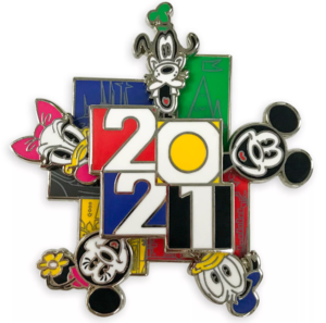 Mickey and Friends 2021 spinner pin