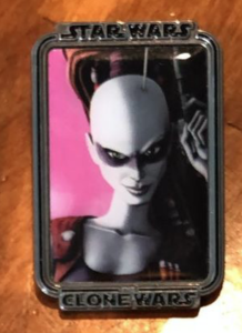 Aurra Sing Clone Wars Mystery Portrait pin