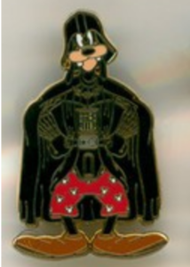 Goofy as Darth Vader - Star Wars Booster Pack pin