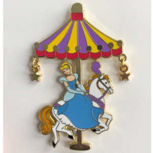 Cinderella carousel pin