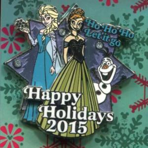 Happy Holidays 2015: Ho Ho Ho Let It Go pin