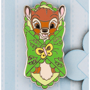 Baby Bambi in blanket pin