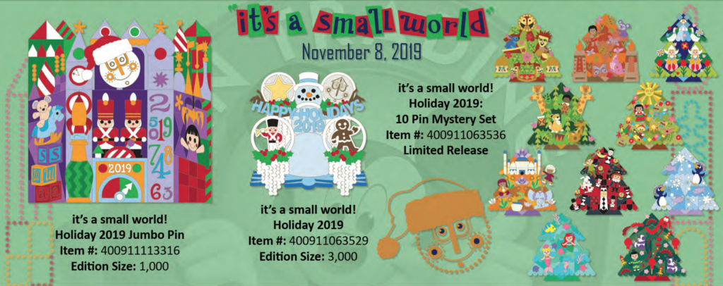 """it's a small world"" November 8th pin releases"