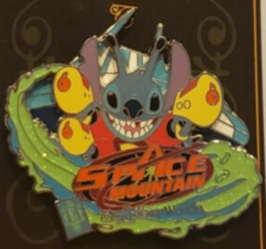 Stitch Space Mountain - E Ticket Attraction pin