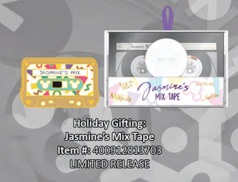 Jasmine's mix tape pin