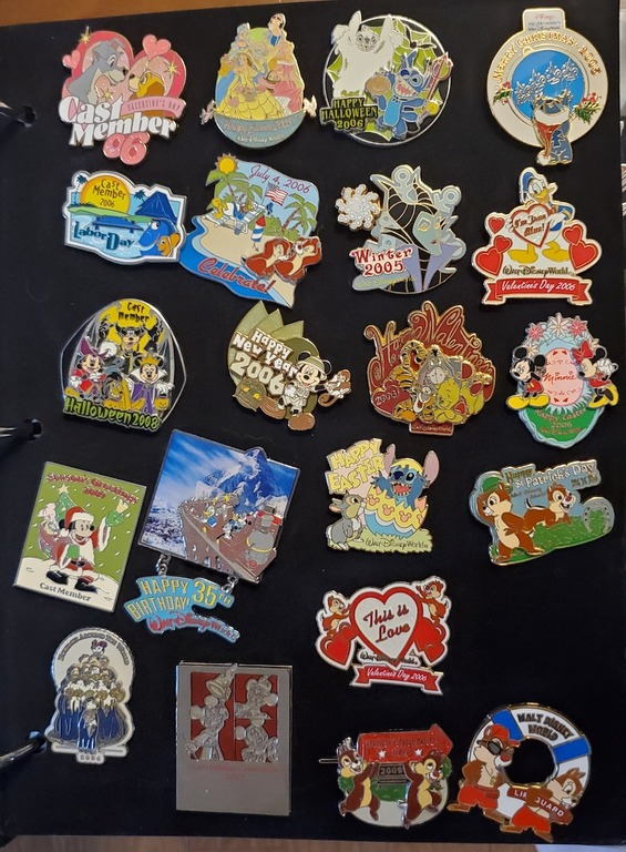 Some of Sir Willow's Cast Member Exclusive pins