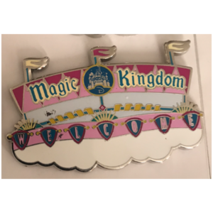 Magic Kingdom welcome sign pin