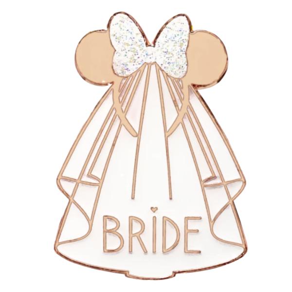 Bride - Minnie Mouse Icon ''Bride Squad'' Flair Pin Set pin