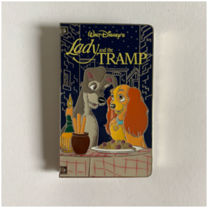 Lady and the Tramp VHS pin