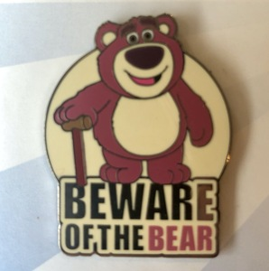 Lotso Beware of the Bear pin