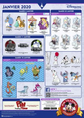 January 2020 Disneyland Paris pin releases