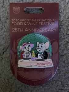 2020 Epcot Food & Wine Festival 25th Anniversary pin