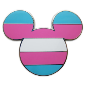 Mickey Mouse Icon Pin – Transgender Flag – Rainbow Disney Collection pin