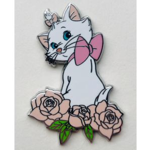 Marie Sitting On Pink Roses pin