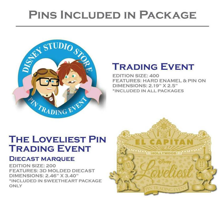 Pins included in packages