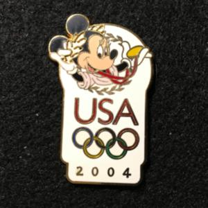 USA 2004 Olympic logo Minnie pin