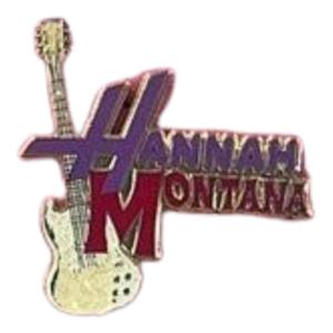 Hannah Montana logo with white guitar pin