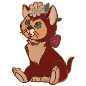 Oh My Disney - Alice in Wonderland Hatter Backer - Dinah with a Glitter Flower pin