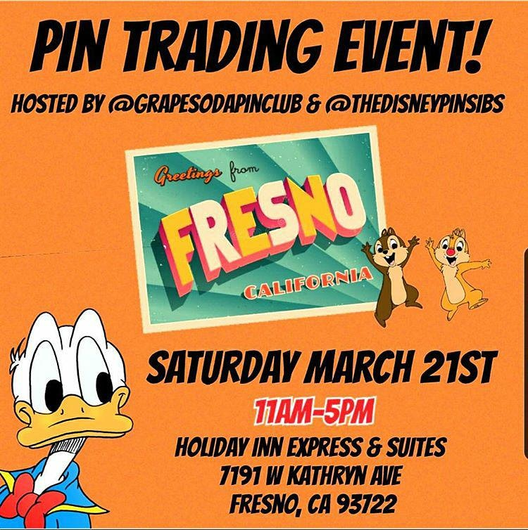 POSTPONED @thedisneypinsibs Fresno Pin Event