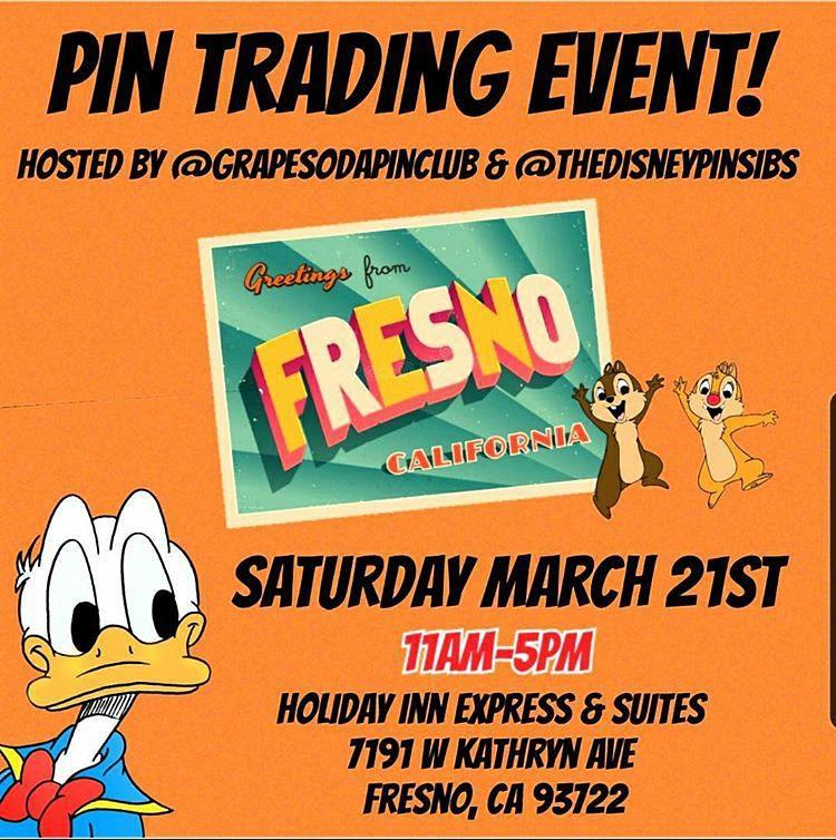POSTPONED @thedisneypinsibs Fresno Pin Event