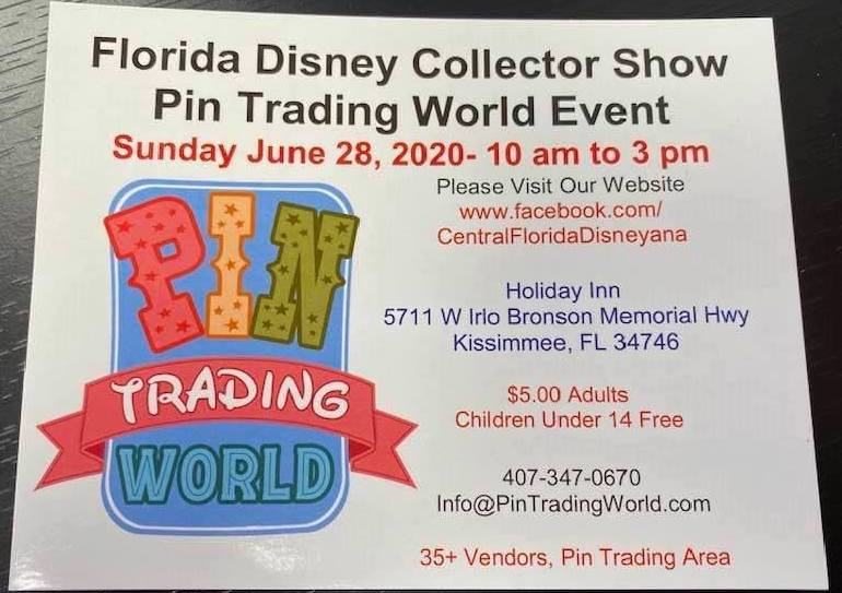Florida Disney Collector Show Pin Trading World Event