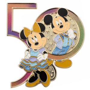 Mickey and Minnie Mouse iridescent 50 - Walt Disney World 50th Anniversary pin