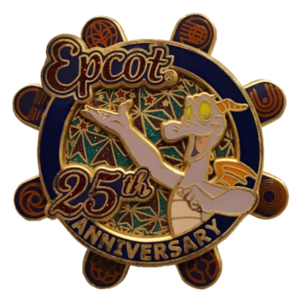 Epcot 25th Anniversary Passholder Exclusive - Figment & Pavilions Spinner pin