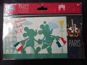 Disney Store - 2015 Postcard and Pin Set - Paris pin