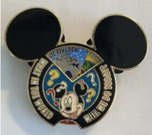 What In the World Will We Do Today? - Mickey Head (Hollywood Studios Version) pin