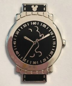 Mickey Mouse Outline - Hidden Mickey Watch pin