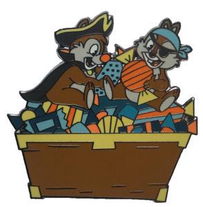 Pirates Chip & Dale Find Treasure - Halloween pin