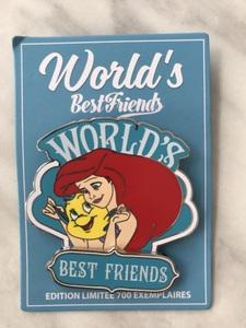 Ariel & Flounder - World's Best Friends pin