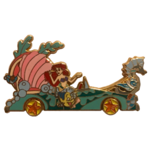 MGM Stars and Motor Cars Floats - The Little Mermaid: Ariel and the Fishes (Seashell Carriage Motor Car) pin