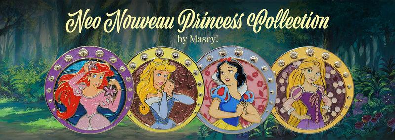 Neo Nouveau Princess Collection Artland Pins