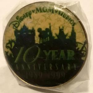 MGM Studios 10 Year Anniversay Cast Member pin