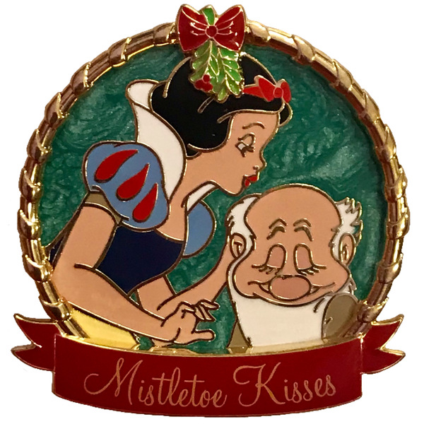 DL - Holiday 2019 - Mistletoe Kisses - Snow White and Bashful pin