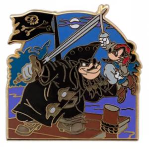 Pete Blackbeard grabbing Captain Mickey pin
