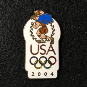 USA 2004 Olympic logo Hercules pin