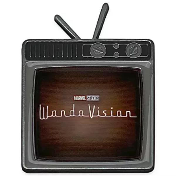 broche WandaVision logo TV set