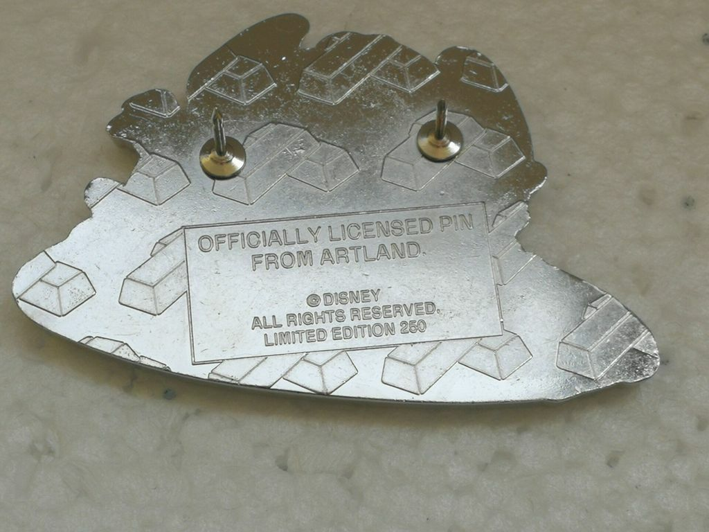 The back of an Artland Limited Edition 250 pin