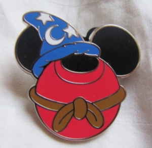 Sorcerer Mickey - Mickey Silhouette pin