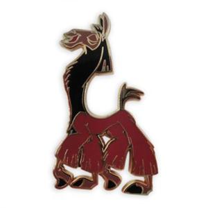 Kuzco as a llama strutting pin